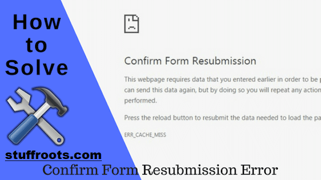 Fix Confirm Form Resubmission Error