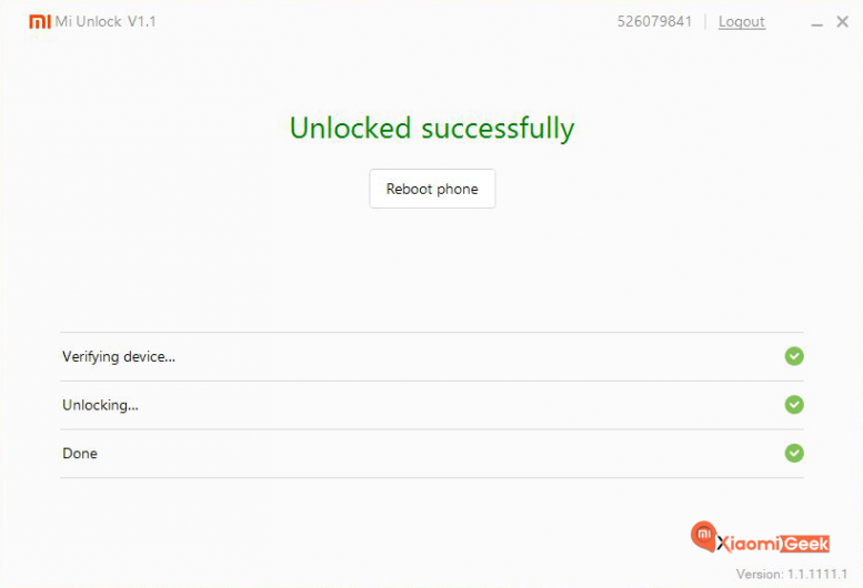 Unlock-Successfull-Mi-Flash-Unlock-Tool