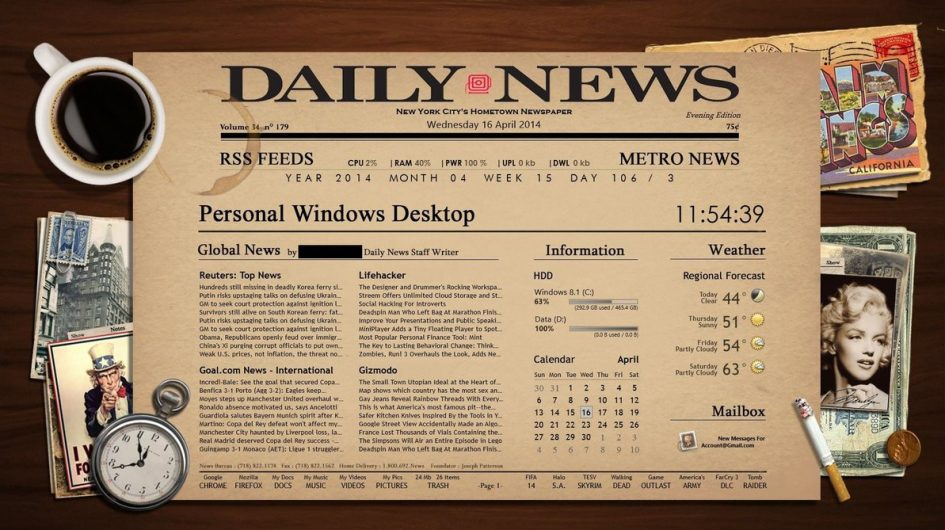 Newspaper Desktop Rainmeter