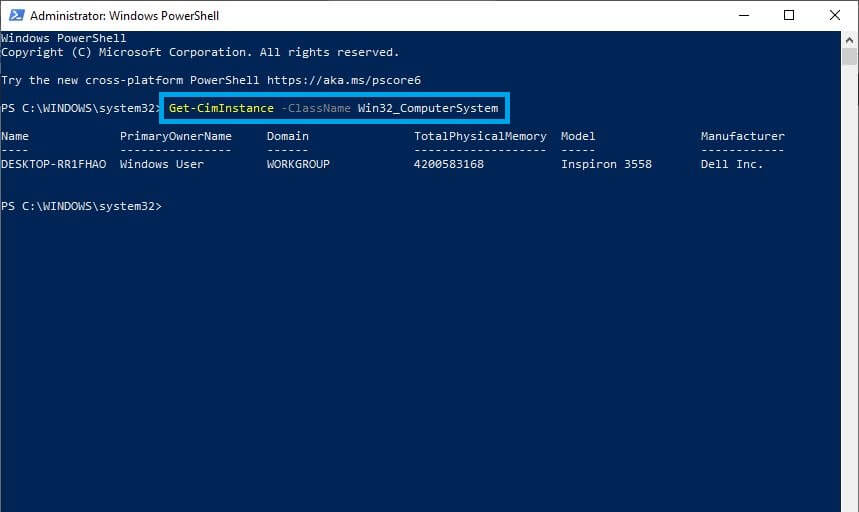 system-info-by-powershell