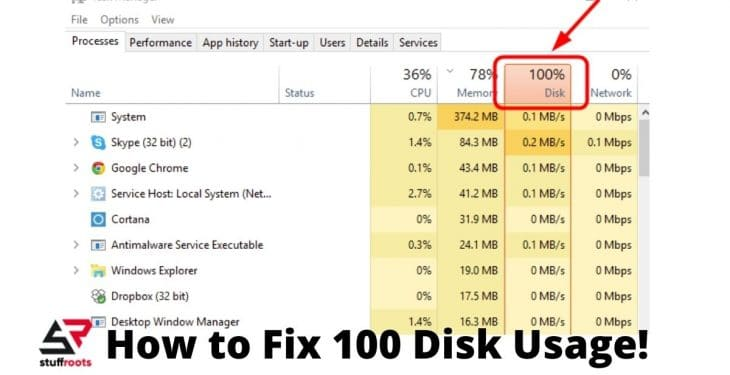 How to Fix 100 Disk Usage!